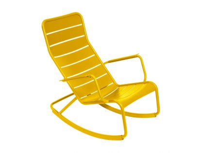 Fermob Luxembourg schommelstoel rocking chair miel honey geel