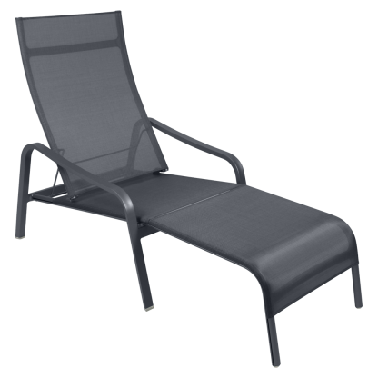 Fermob Alize deck chair ligstoel voetenbank anthracite antraciet