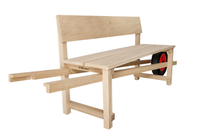 Weltevree wheelbench eikenhout bank